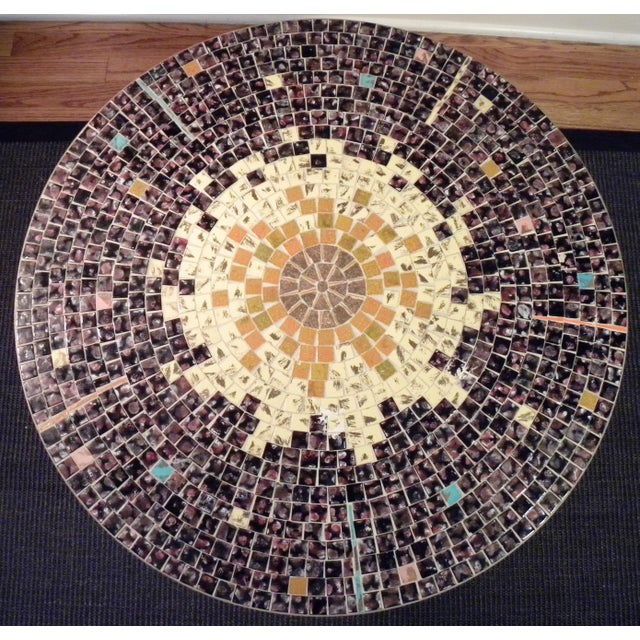 Vintage Mid Century Mosaic Coffee Cocktail Accent Table - Image 5 of 7