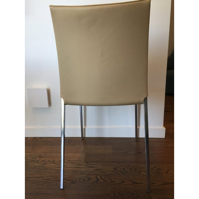 Zanotta Lia Chair in Leather For Sale In Denver - Image 6 of 7