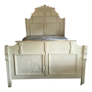 Shabby Chic Butter Yellow Queen Bed Frame For Sale