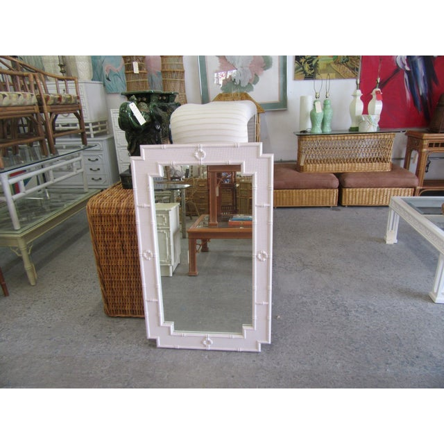 American Palm Beach Faux Bamboo Mirror For Sale - Image 3 of 7