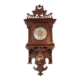 Art Nouvaeu Wall Clock For Sale