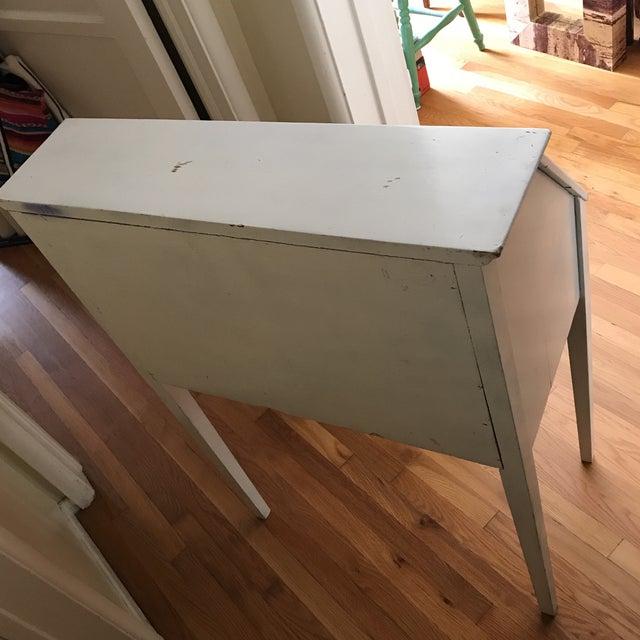 Distressed White Secretary Desk - Image 10 of 10