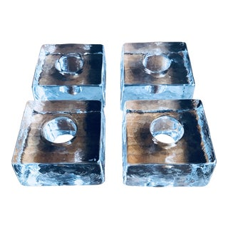 Candle Holders Crystal - Set of 4 by Point a La Ligne