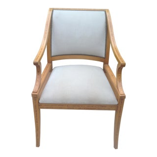 Designer Lounge Chair With Marquetry For Sale