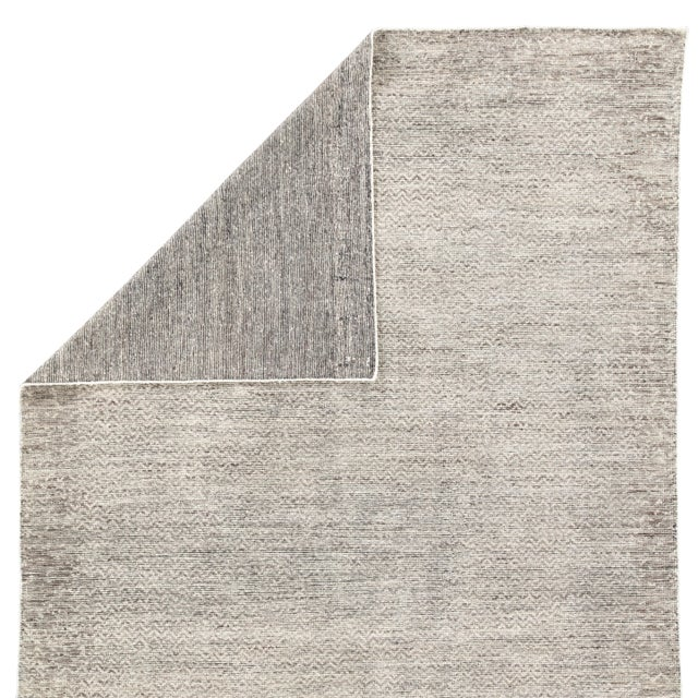Jaipur Living Shervin Hand-Knotted Chevron Dark Gray & Ivory Area Rug - 8' X 10' For Sale - Image 4 of 6