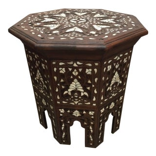 Syrian Mother-Of-Pearl Inlaid Side Table For Sale