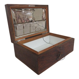Early 1900s Oak Tabletop Cigar Tobacco Humidor Chest Box For Sale
