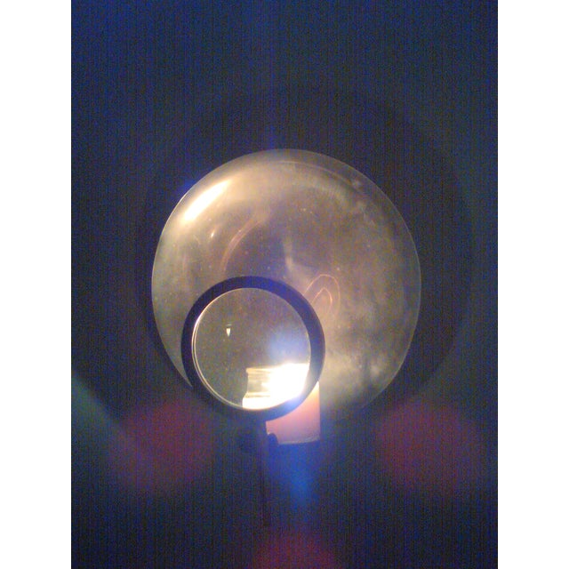 Vintage Candle Wick Sconce with Magnifying Glass - Image 3 of 8