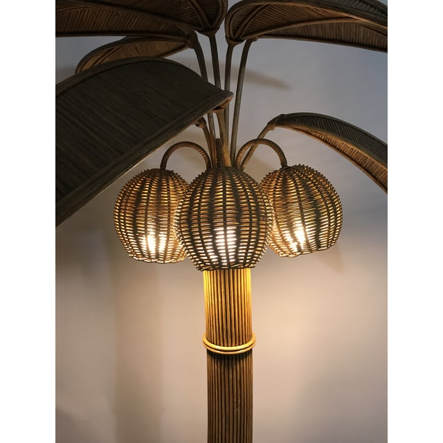 Tan Mario Lopez Torres Palm Tree Floor Lamp For Sale - Image 8 of 11