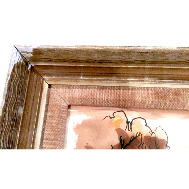Vintage Golden Gate Bridge Watercolor Painting - Image 6 of 7