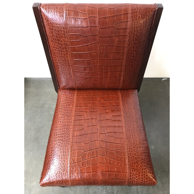 Ralph Lauren Home Modern Metropolis Leather Side Chair For Sale In Raleigh - Image 6 of 10