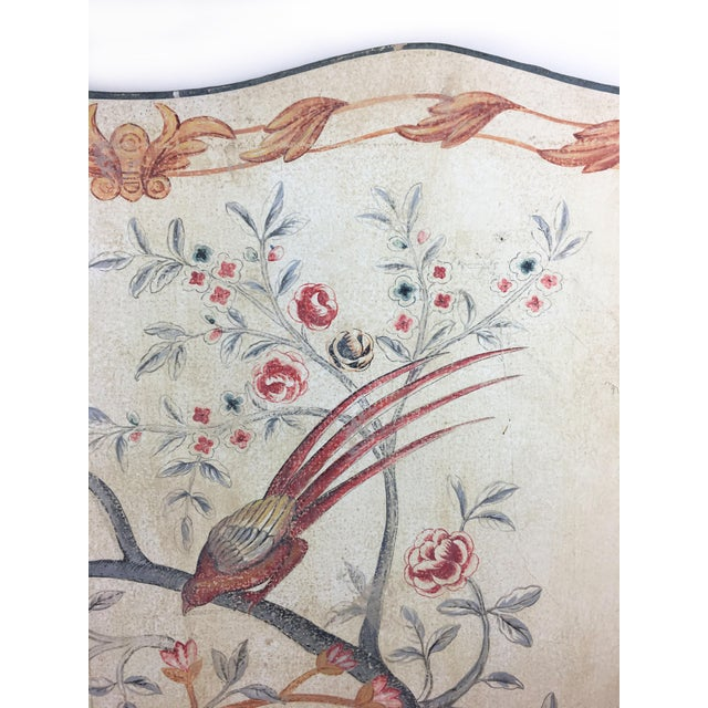 Chinoiserie panels are an elegant addition to any room. Our large hand painted piece is covered in a unique motif of...