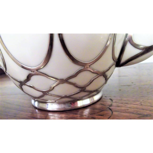 Sterling Silver Overlay Tea Service, Circa 1910 - Set of 3 For Sale In Philadelphia - Image 6 of 8