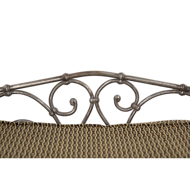 Antique French Wrought Iron Campaign Style Daybed Sofa For Sale - Image 11 of 13