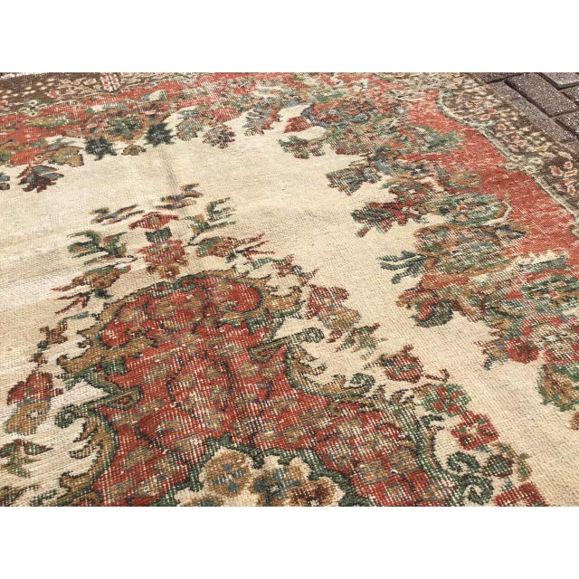 Textile Vintage Hand Knotted Turkish Rug For Sale - Image 7 of 11