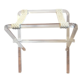 Mid-Century Lucite Luggage Rack