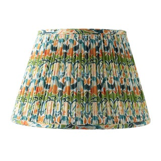 "Kaleidoscope in Orange and Green 18"" Lamp Shade, Green For Sale"