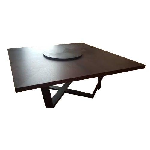 B & B Italia Black Oak Dining Table - Image 1 of 8