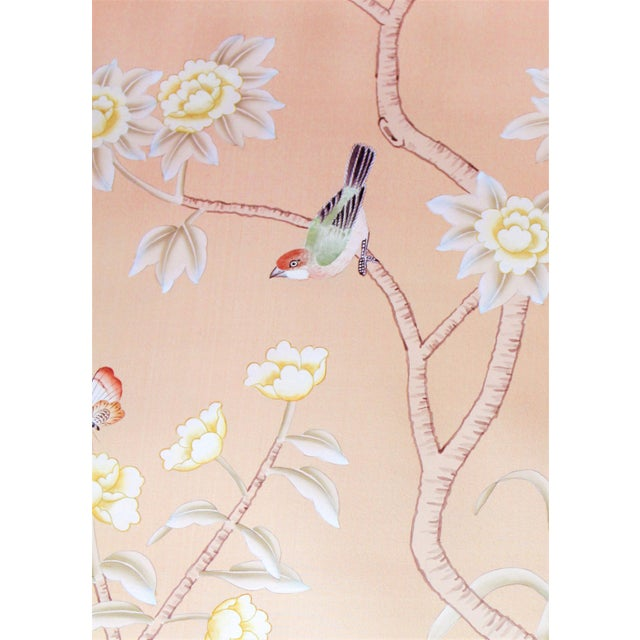 Traditional Chinoiserie hand-painted silk wallpapers customarily adorning finer homes and chateaux since the 17th century...