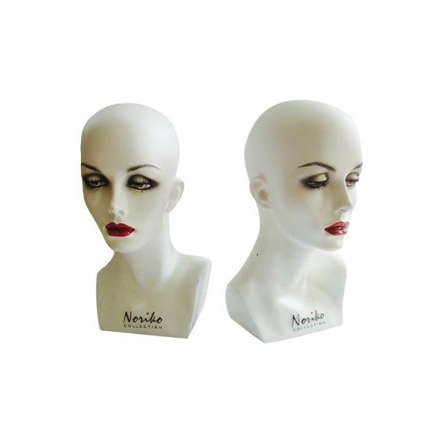 Vintage Modernist Mannequin Display Heads - Pair - Image 1 of 8