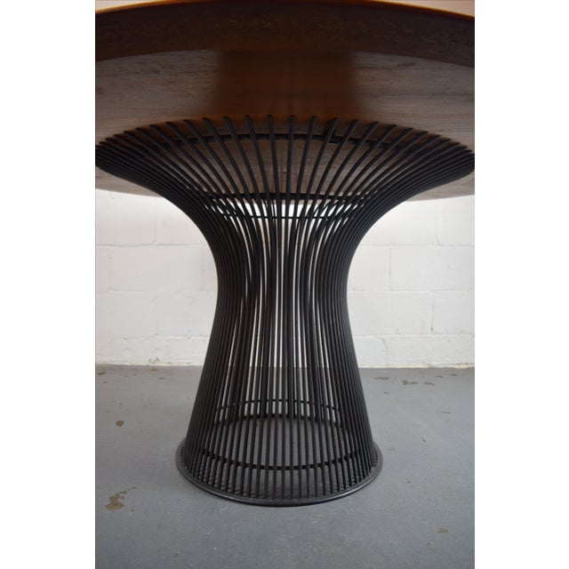 Warren Platner for Knoll Bronze and Teak Table - Image 7 of 8