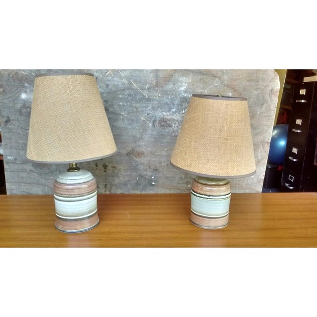 Mid-Century Ceramic Table Lamps - A Pair - Image 2 of 4
