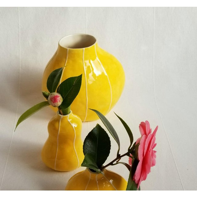 Pod Shape Yellow Vase For Sale In Seattle - Image 6 of 6