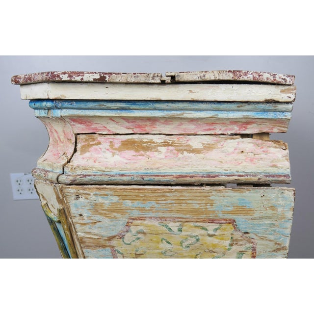 Light Yellow 19th Century Italian Painted Altar Table For Sale - Image 8 of 10