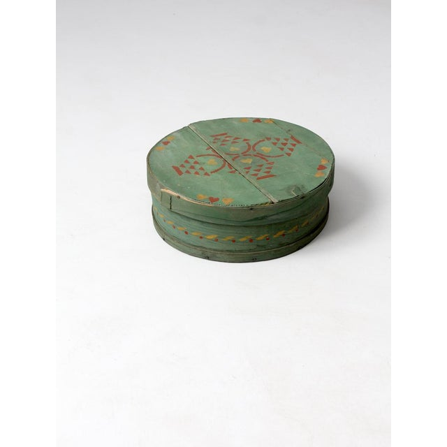 Antique Painted Band Box - Image 7 of 8