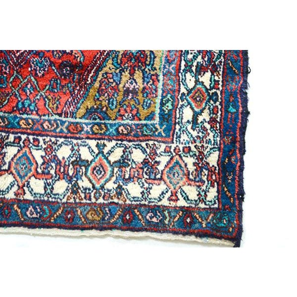 Hand Knotted Persian Mahal Runner - 3′10″ × 10′4″ - Image 11 of 11