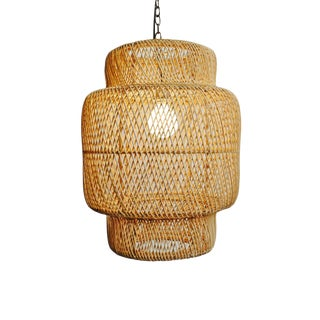 Natural Wicker Liberty Lantern Small For Sale