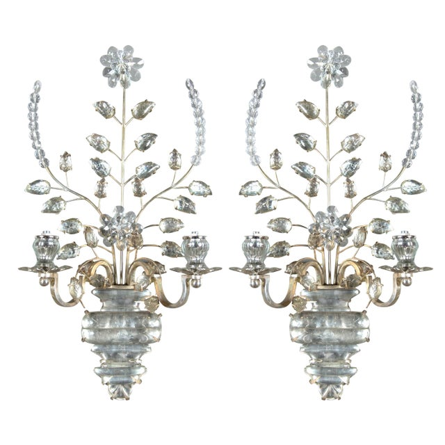 Transparent 1930s French Silver Plated Sconces - a Pair For Sale - Image 8 of 8