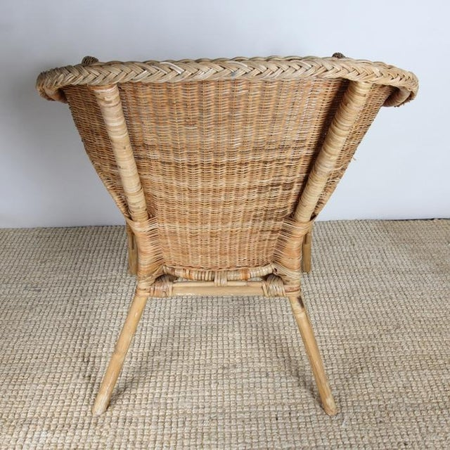 Wicker Patio Chairs with Cushions - A Pair - Image 7 of 8