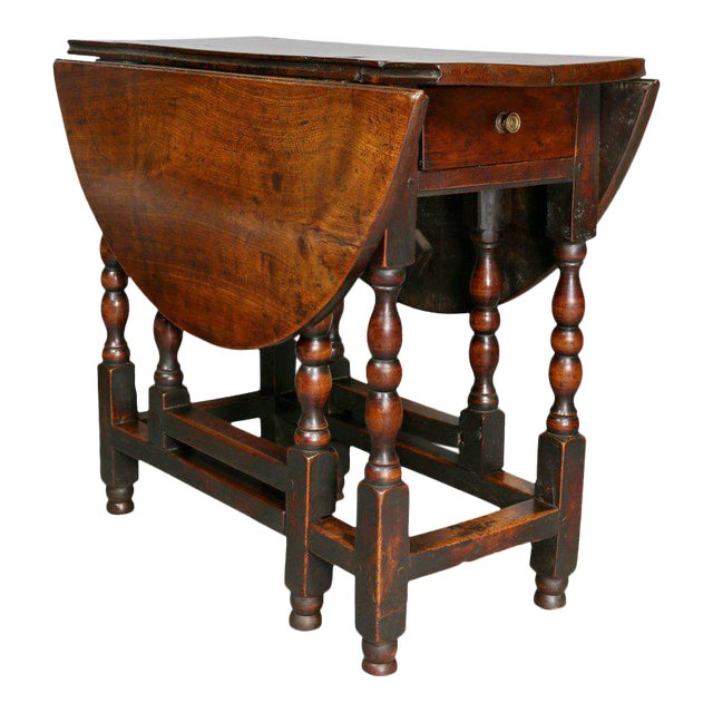 William and Mary Fruitwood Gateleg Table For Sale