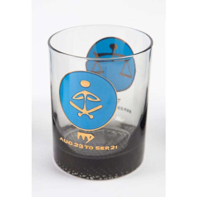 Glass 1960's Zodiac Barware Set For Sale - Image 7 of 10