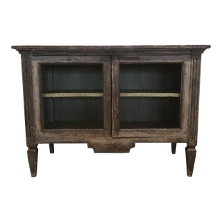 19th Century Rustic Gustavian Style Wooden Cabinet For Sale