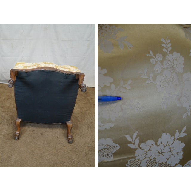 Louis XV Carved Walnut Wing Chair - Image 10 of 10