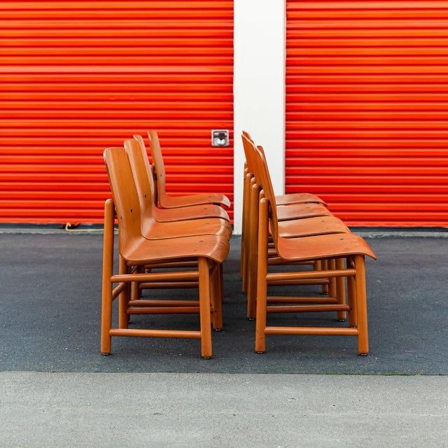 Charlotte Perriand Vintage Modern Moulded Plywood Chairs - Set of 8 For Sale - Image 4 of 11