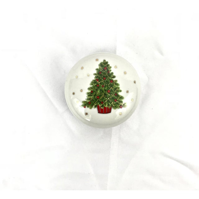 Christmas Tree Porcelain Box For Sale - Image 9 of 9