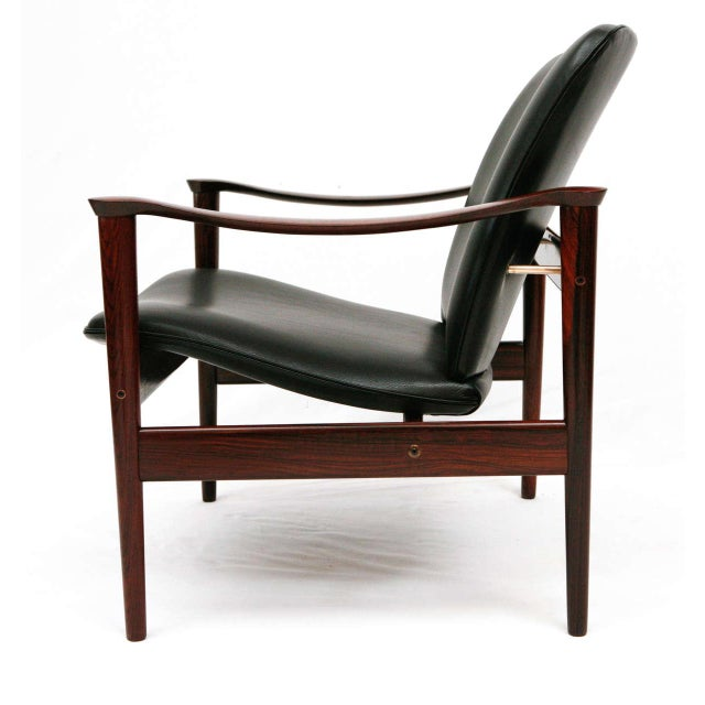 Wood Frederik Kayser Rosewood Lounge Chair For Sale - Image 7 of 10