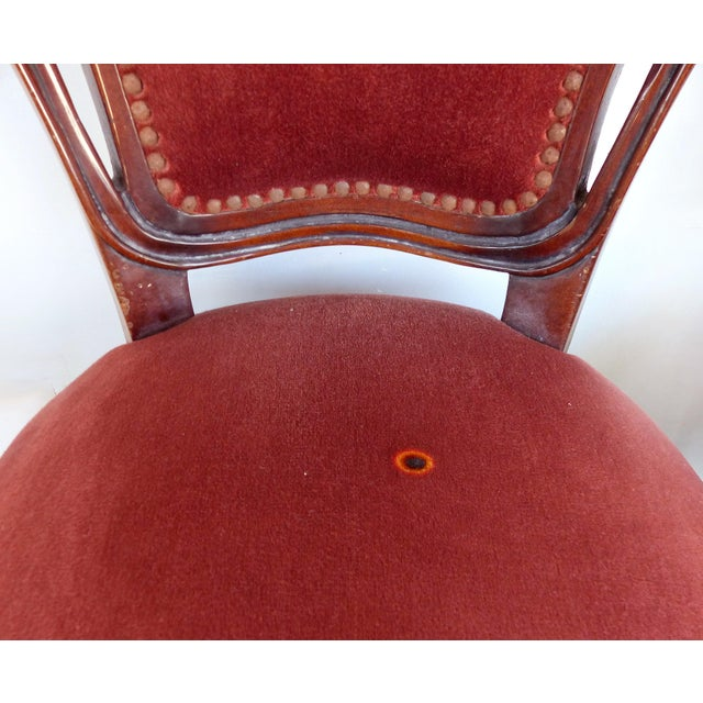 Louis XV Style Mahogany Dining Chairs With Carved Pierced Backs-Set of 6 For Sale - Image 11 of 12