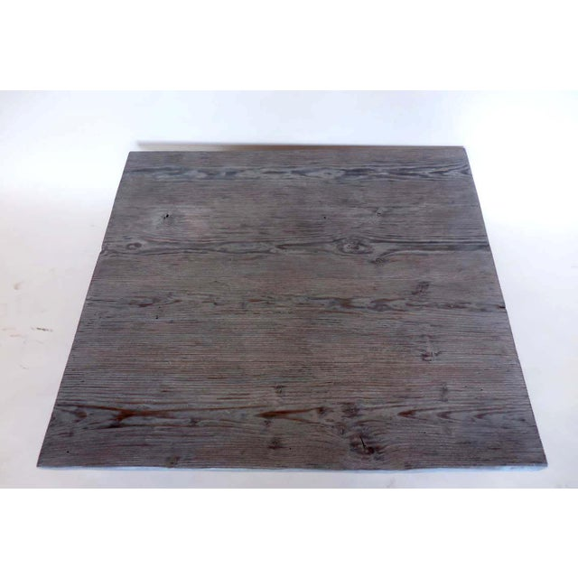 1920s Custom Reclaimed Wood Coffee Table For Sale - Image 5 of 7