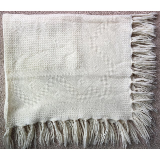 Vintage Wool Hand-Woven Child's Blanket - Image 4 of 5