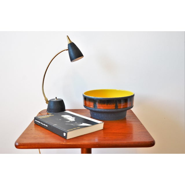 Brown 1970s Mid-Century Modern Teak Pedestal Side Table For Sale - Image 8 of 11