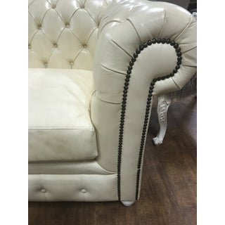 New Cream Leather Tufted Chesterfield Sofa Preview