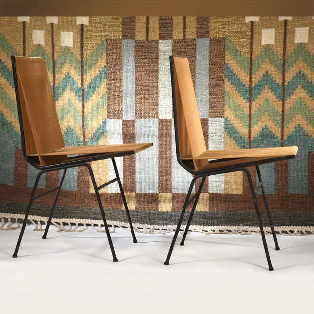 Allan Gould Allan Gould String Side Chairs - a Matched Pair, Circa 1952 For Sale - Image 4 of 7