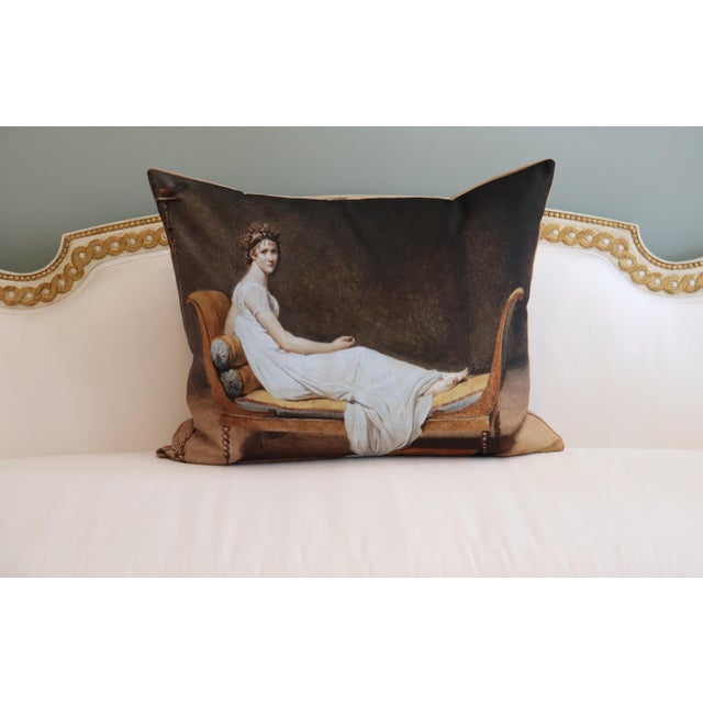 2020s Paris Photo Pillow Juliette Recamier For Sale - Image 5 of 12