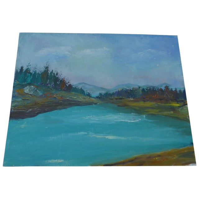 H.L. Musgrave Mid-Century Mountain Scene Painting - Image 1 of 6