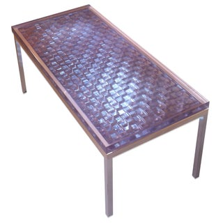 Industrial Cubism Coffee Table For Sale
