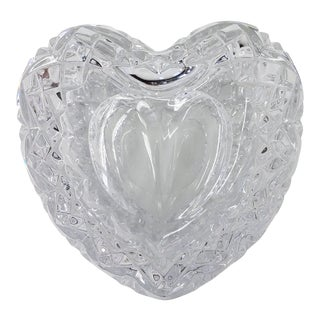 Crystal Heart Trinket Box For Sale